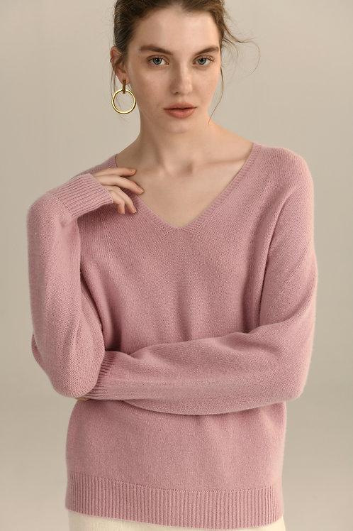 Ecru Emissary | Pink Leila Seamless Knitting Wool Sweater