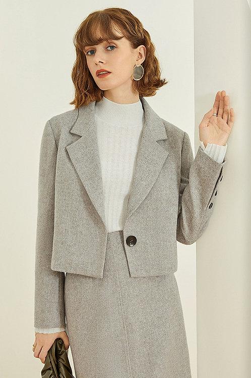 FANSILANEN | Crop Gray Blazer
