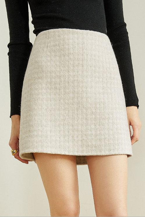 FANSILANEN | White Checkered Skirt