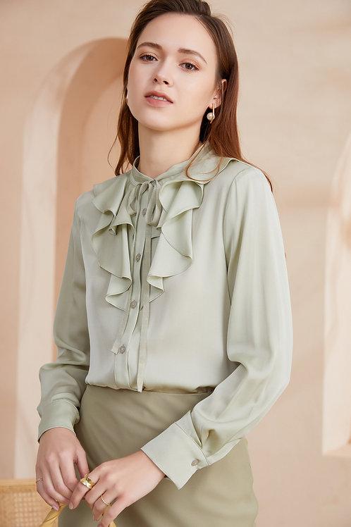 Ecru Emissary | Orchid Silk Shirt