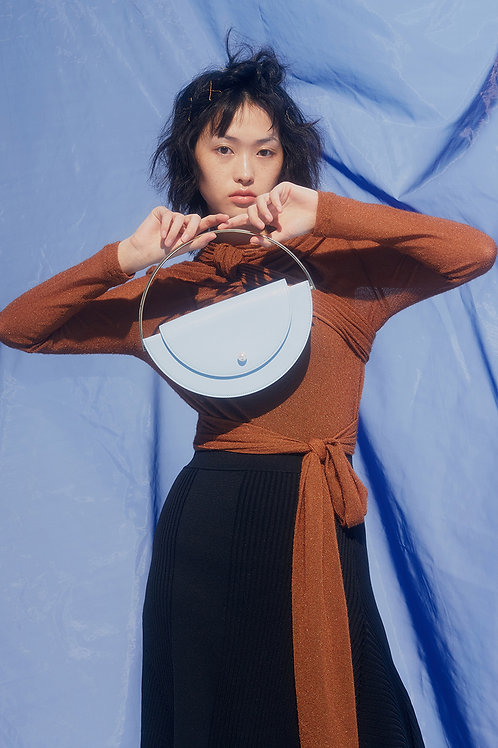 Kitayama Studio | Blue Half Moon Bag
