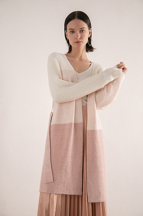 Ecru Emissary | Pink Blair Long Cardigan