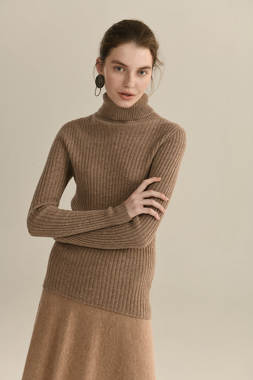 Ecru Emissary | Brown Seamless Knitting Wool Sweater