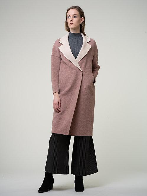 Ecru Emissary | Smoke Pink Petal Coat
