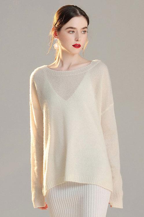 Ecru Emissary | Crepuscule Cashmere Dress