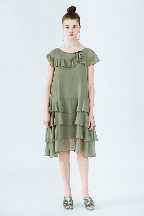 MOLIFUSU | Moss Green Budapest Dress