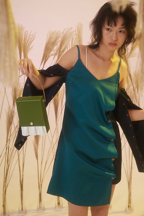Kitayama Studio | Green Box Shoulder Bag