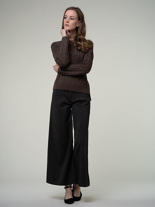 Ecru Emissary | Brown Tantalizing Sweater