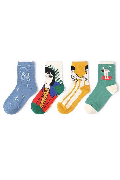 Illustration Art Socks Collection