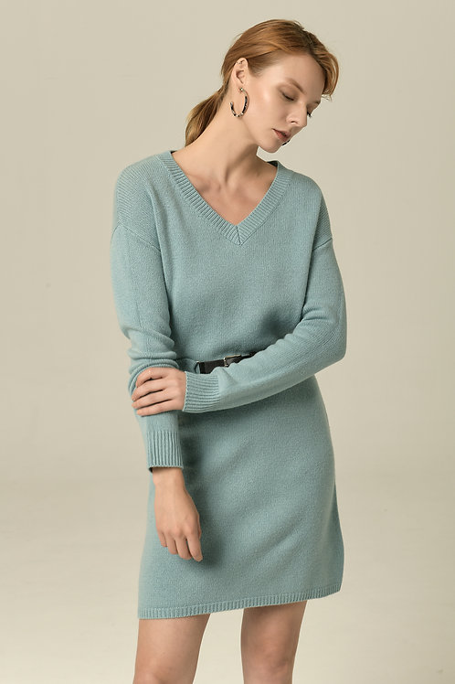 Ecru Emissary | Blue Margaret Knit Dress