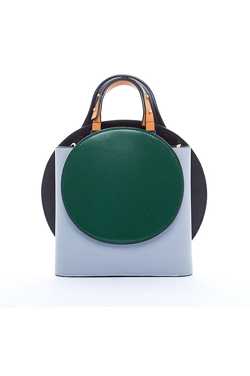 Incomplete | Grey Blue Circle bag