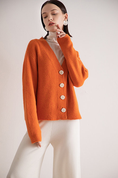 Ecru Emissary | Orange Miranda Cardigan