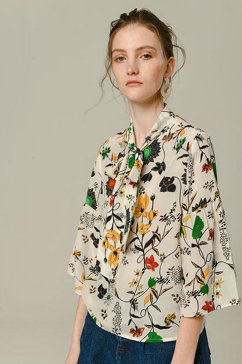 Ecru Emissary | Nature Silk Blouse