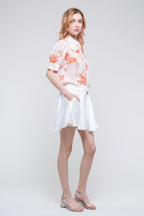 Ecru Emissary | White Anouk Shorts