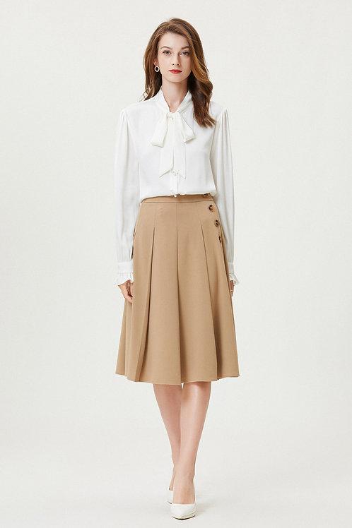Ecru Emissary | Gardenia Silk Shirt