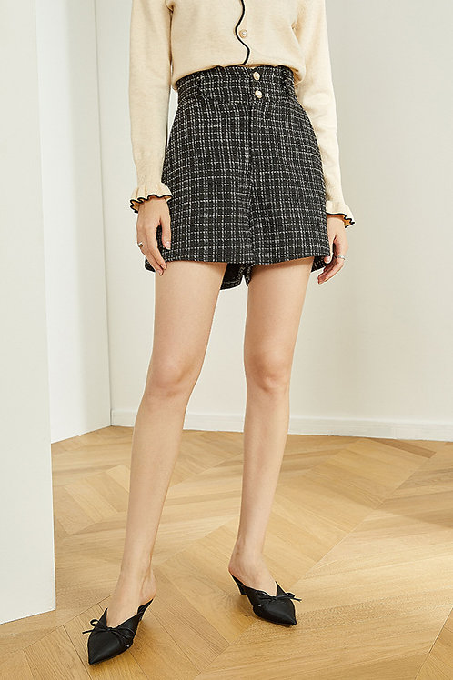 FANSILANEN | Pearl Checkered Shorts