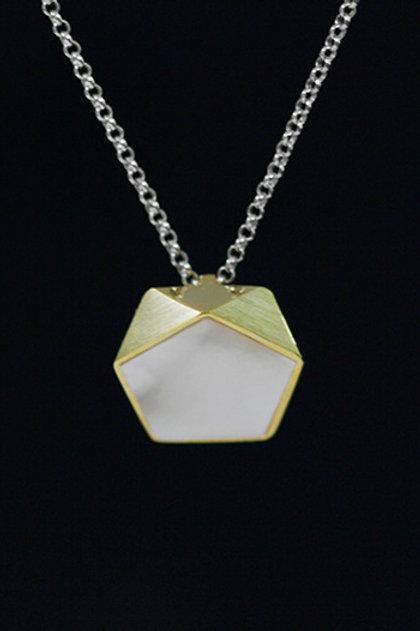 Minimalism Pentagon Necklace