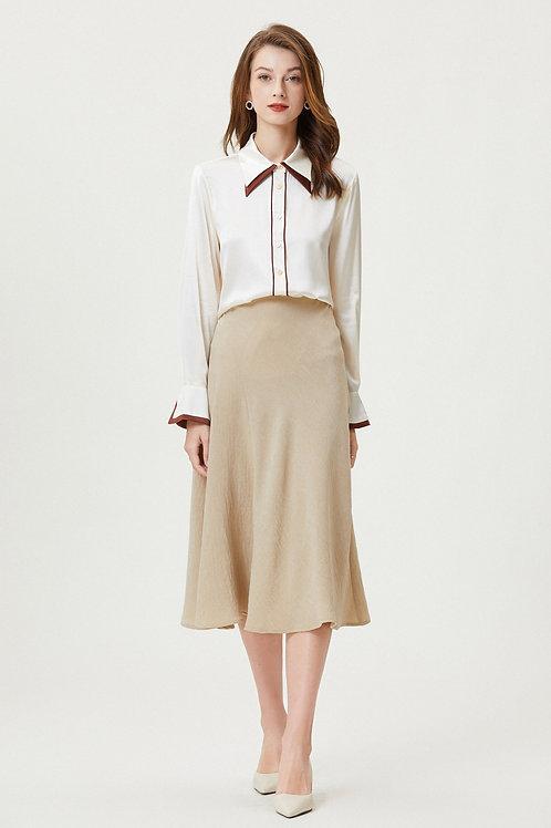 Ecru Emissary | Camellia Silk Shirt