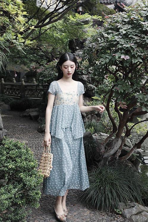 MOLIFUSU   Cerulean Mangnolia Dress