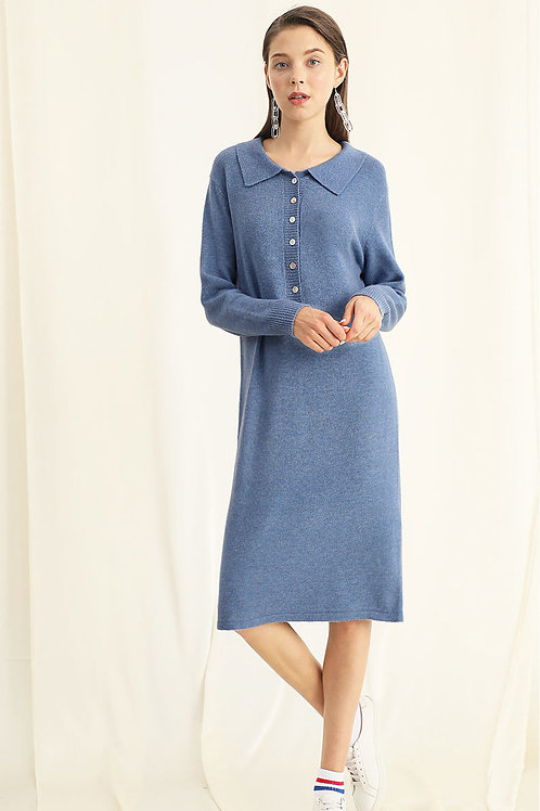 Ecru Emissary | Polo Knit Dress