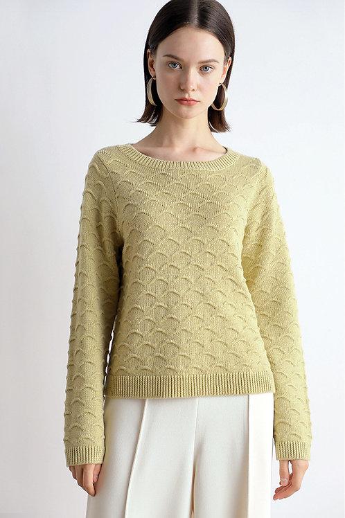 Ecru Emissary | Shell Pattern Sweater