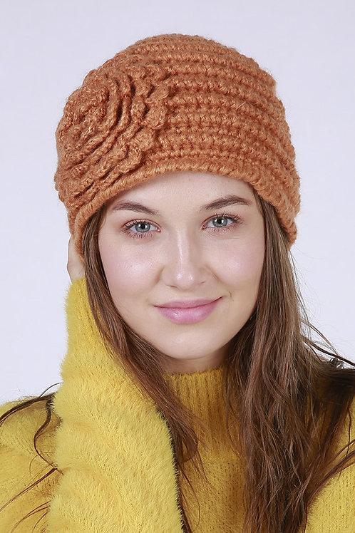 Ecru Emissary | Orange Crystal Beanie