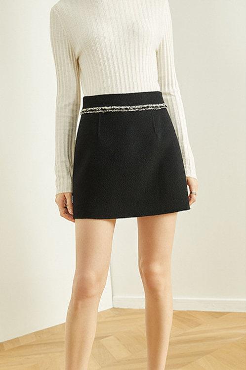 FANSILANEN | Fringe Black Skirt