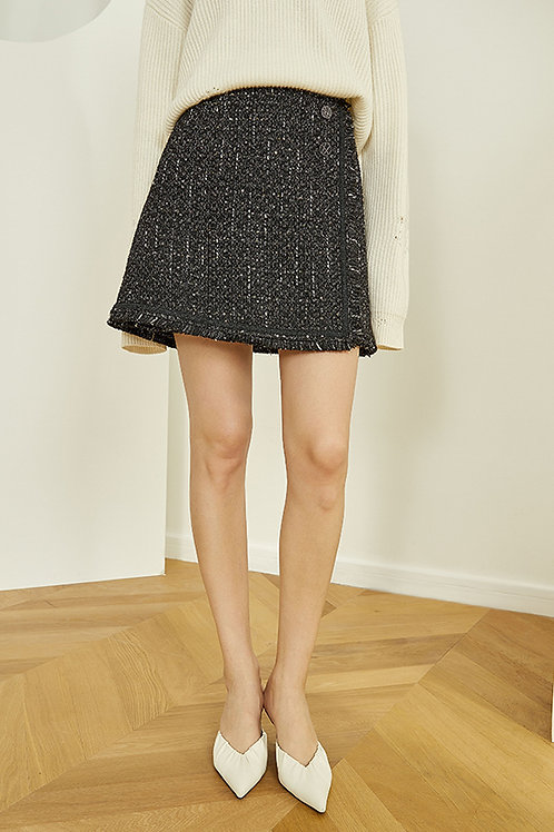 FANSILANEN | Fringe Button Skirt