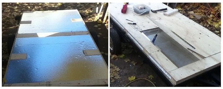 optional method for insulating teardrop trailer floor