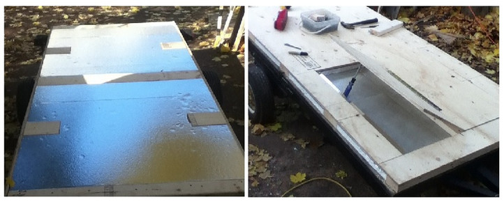 optional method for insulating teardrop trailer floor
