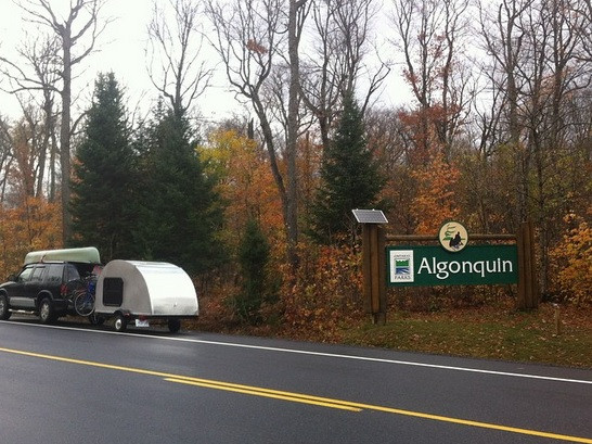 Algonquin Park entrance sign