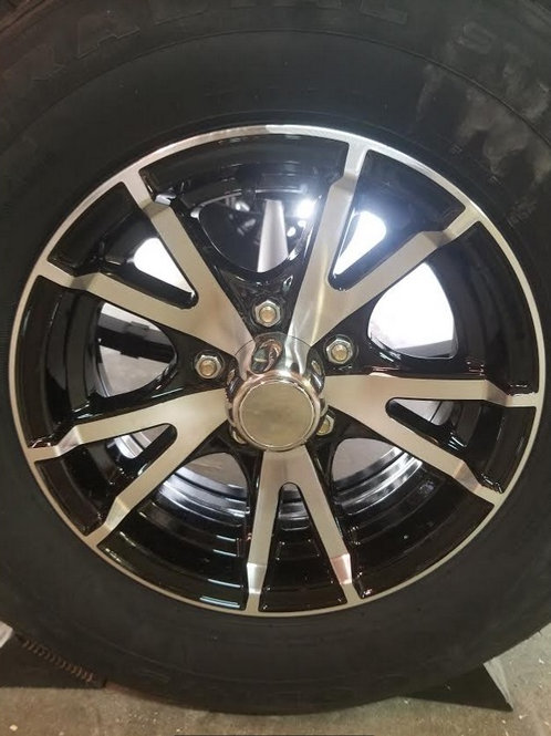 Black Alloy Rims and tires