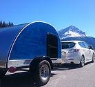 Blue moon woody teardrop trailer