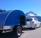 Blue moon woody teardrop trailer