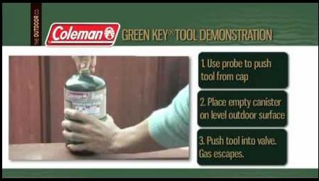 Recycle,Reuse 1lb Propane Cylinder