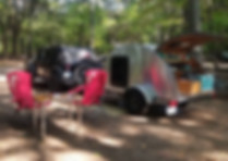 Teardrop Trailer and Jeep Wrangler