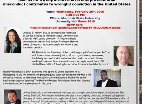 MSU Psychology Department to host three panel discussions on wrongful conviction