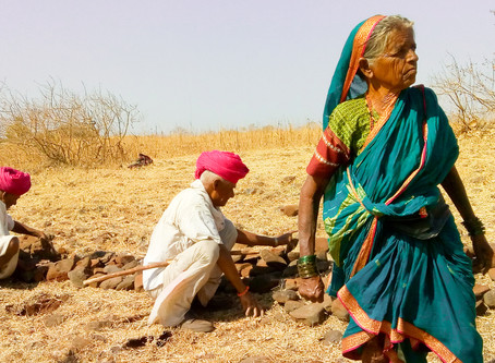 THE OLD AND ELDERLY BANJARA FARMERS SALVAGING THEIR DROUGHT-HIT VILLAGE IN MARATHWADA