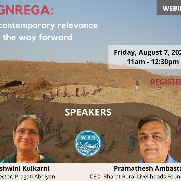 "Webinar: ''MGNREGA- Its contemporary relevance and the way forward"":"