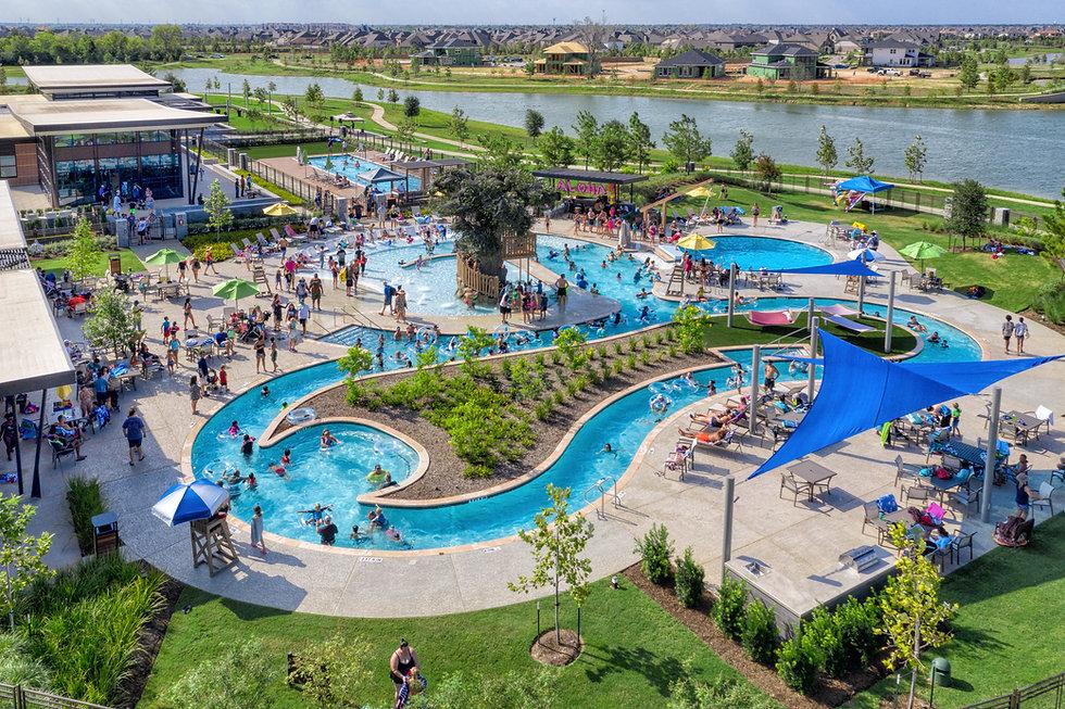 Pool coping - Lazy river, pool and splash pad