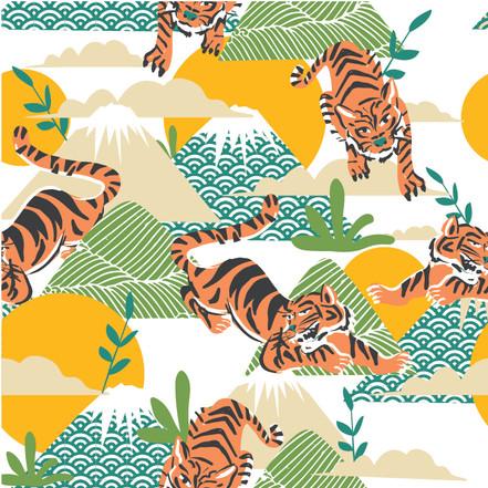 Japanese Inspired Baby print