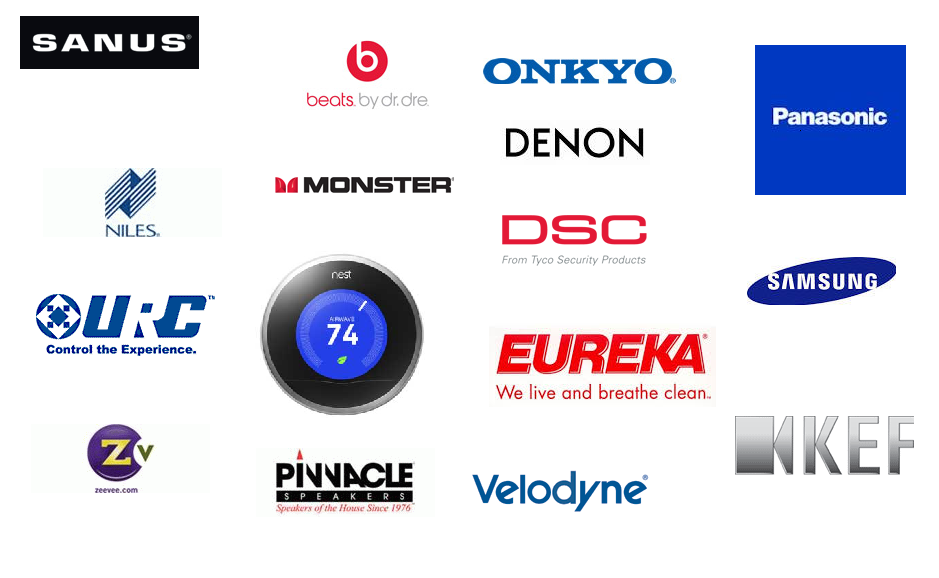 Logos of all the product lines offered by Media Design
