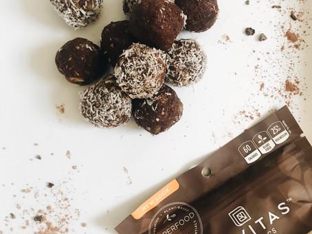 6 Ingredient Cacao Fudge Bites.
