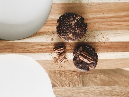 Paleo Chocolate Pecan Fudge Cakes.