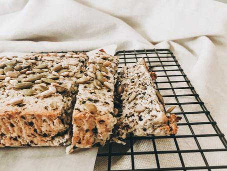 Rosemary + Garlic Seed Loaf (Paleo).