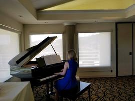 Bridget rehearsing