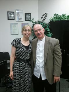 Bridget Hough and Alan Smith