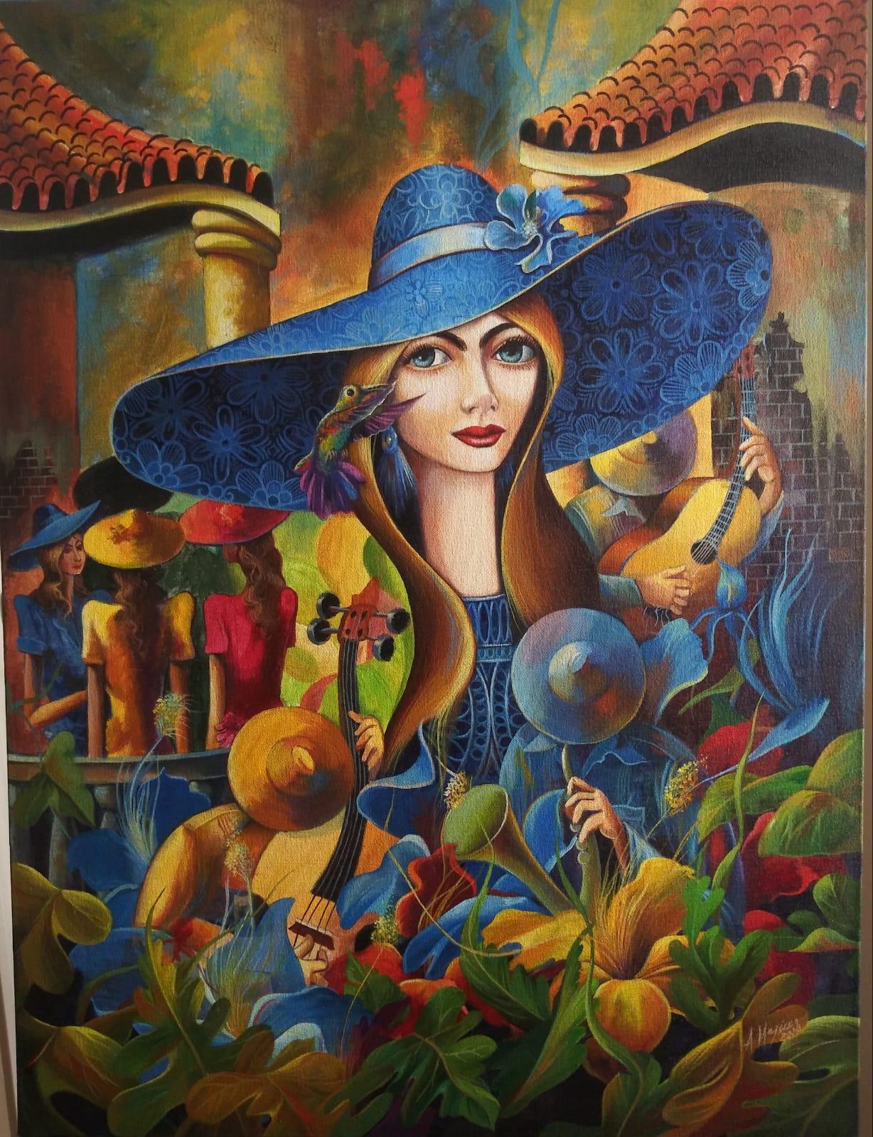 Armando Mejias ,Oil on Canvas