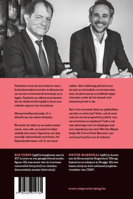achterflap boek: Over Morgen, Rik Torfs & Pieter Marechal