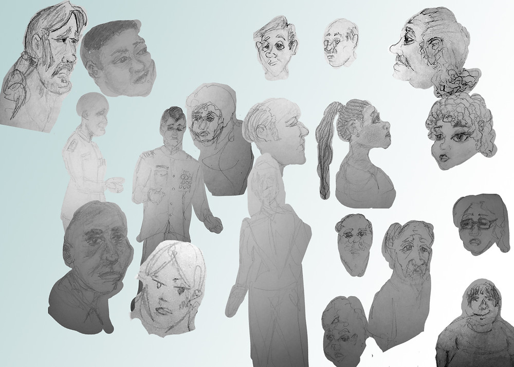 Looking for variety as I developed characters for the project.